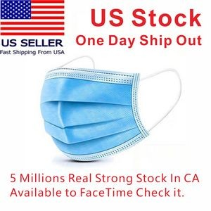 US Stock! 3 Layer Disposable Face Mask(Blank)